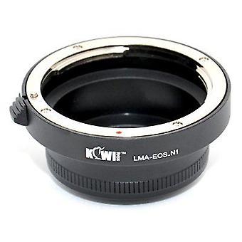 Kiwifotos objektív Mount Adapter: umožňuje Canon EOS EF mount objektívy, ktoré majú byť použité na akomkoľvek fotoaparáte Nikon 1 Series (J1, J2, J3, S1, v1, v2)