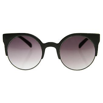 Super cirkel rond Half Frame mode zonnebril