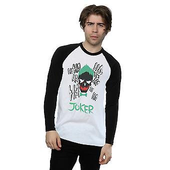 Suicide Squad Joker ikonen Långärmad Baseball herrskjorta
