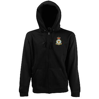 Wyton RAF Station Embroidered Logo - Official Royal Air Force Zipped Hoodie Jacket