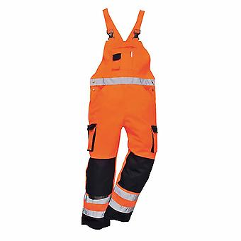 Portwest - Dijon Texo Workwear Uniform Two-Coloured Hi-Vis Safety Bib and Brace