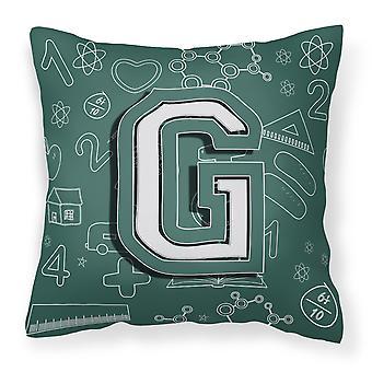 Буква G обратно в школу первоначальный холст ткани декоративные подушки