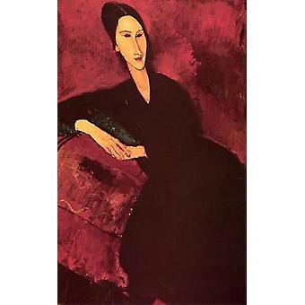 Madame Zborowski på en Sofa plakat Print af Amedeo Modigliani