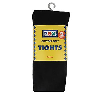 Girls PEX Sunset Cotton Soft Plain Tights