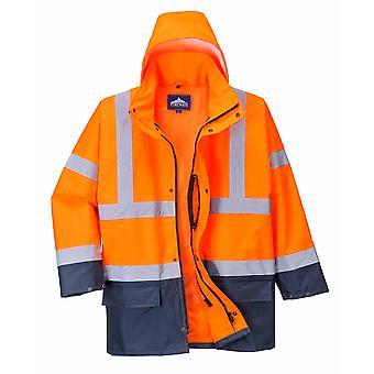 Портвест - Привет-Vis безопасности workwear Основные 5-в-1 Два тона куртка