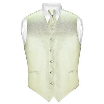 De los hombres Vestido de chaleco y corbata tejida cuello lazo raya Horizontal conjunto