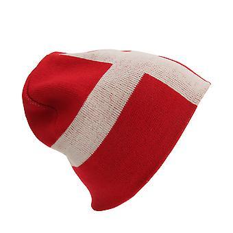 Unisex Denmark Flag Design Winter Beanie Hat