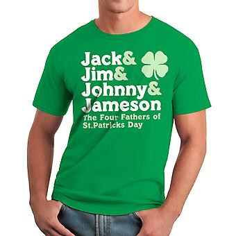 Humor Four Fathers Men's Kelly Green T-shirt