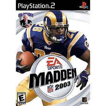 Madden NFL 2003 (PS2) - Usine scellée