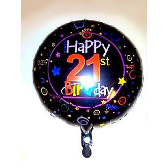 Feuille ballon 21e anniversaire