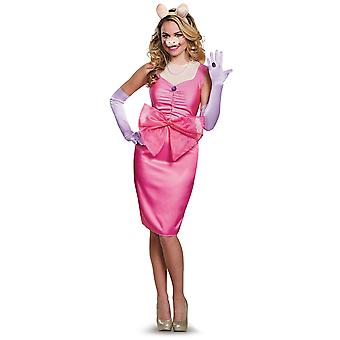 Miss Piggy Deluxe Disney The Muppets Female Pig Pink Dress Up Womens Costume