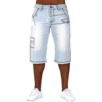 Mannen Jeans Shorts Caipirinha Denim Cargo Capri broek Vintage broek
