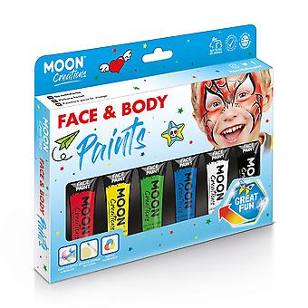 Face & Body Paint Primary Colours Boxset by Moon Creations - 12ml
