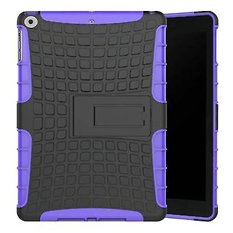 Hybrid outdoor protective cover case purple for NEW Apple iPad 9.7 2017 bag