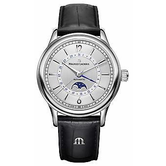 Maurice Lacroix Les Classiques Mens Moonphase Black Leather Strap LC6168-SS001-120-1 Watch