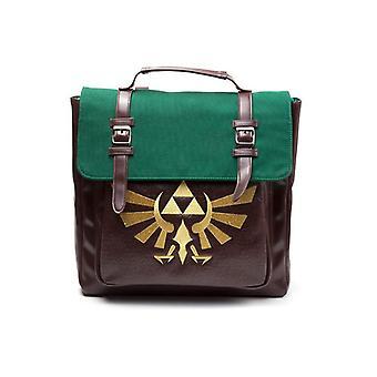 Nintendo Legend of Zelda Royal Crest Emblem Backpack Brown/Green (BP020216ZEL)