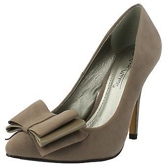 Ladies Anne Michelle Pointed Bow Trim Heels