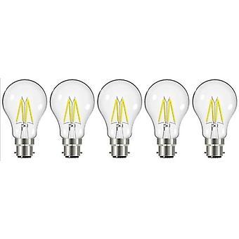 5 X Energizer 7.2W = 60W conduit à incandescence GLS ampoule lampe Vintage BC B22 baïonnette bouchon [classe énergétique A +]