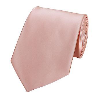 Knyta slips tie slips 8cm lax av rosa uni Fabio Farini