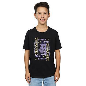 Meninos de Jimi Hendrix Purple Haze t-shirt