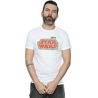 Star contorno Retro camiseta Wars hombres