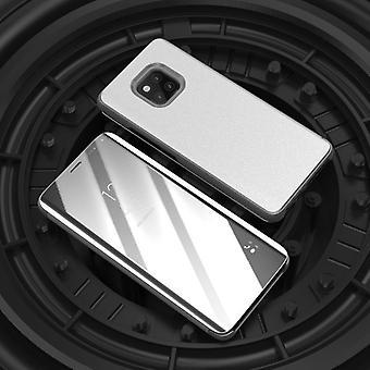Para Samsung Galaxy A7 A750F 2018 visión clara espejo espejo cubierta elegante plata funda protectora bolsa bolso caso nuevo caso función wake-UP