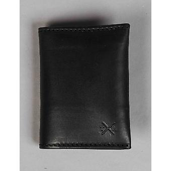 Tumble and Hide Chukka Leather Card Holder - Black