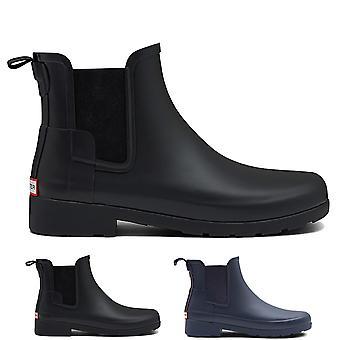 Womens Hunter Original Chelsea Refined Waterproof Rubber Rain Ankle Boots