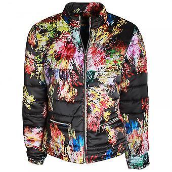 Frank Lyman Abstract Floral Print Padded Jacket