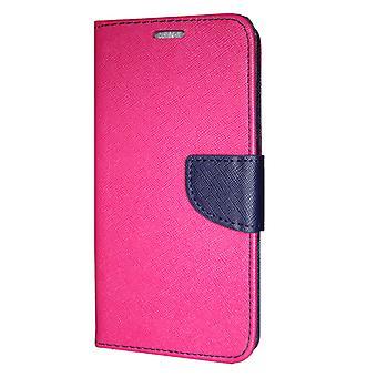 Samsung Galaxy A30 (A305) lommebok saken fancy Case Pink-Navy
