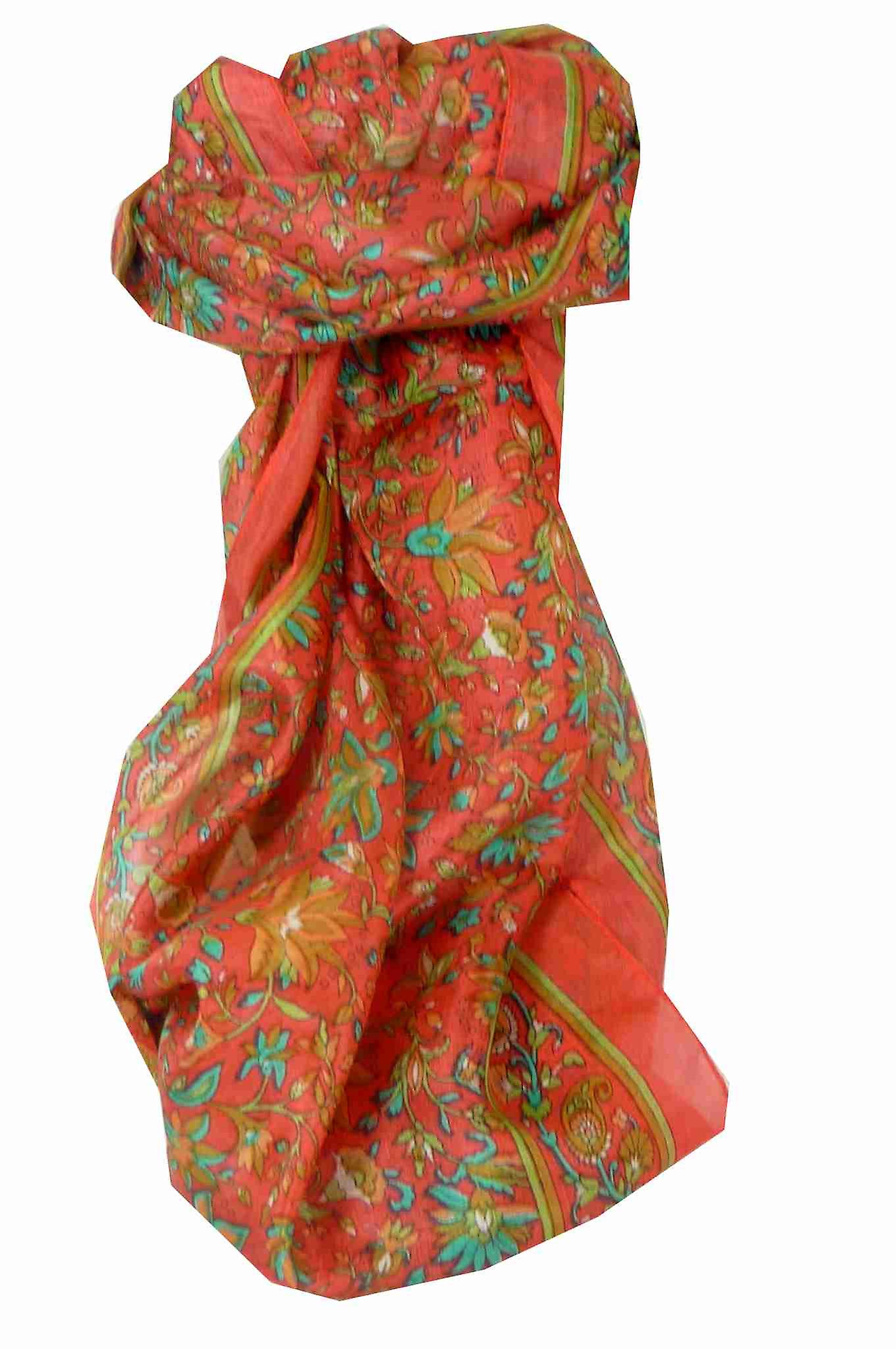 Mulberry Silk Traditional Long Scarf Wagh Blush by Pashmina & Silk