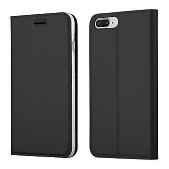 Cadorabo حالة لأبل اي فون 8 PLUS / اي فون 7 PLUS / iPhone 7S زائد غطاء القضية - حالة الهاتف مع إغلاق المغناطيسي، وظيفة الوقوف وصينية بطاقة - غطاء حالة حالة واقية حقيبة نمط طي