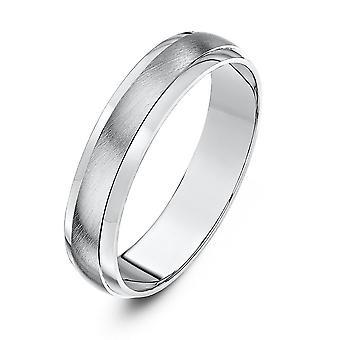 Star Wedding Rings Palladium 950 Heavy D Matt Centre 4mm Wedding Ring
