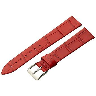 Morellato black leather strap unisex THIN 16 mm A01D2860656083CR16, Red