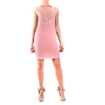 Moschino Ezbc015048 Women's Pink Polyester Dress