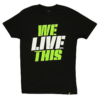 MusclePharm Mens MP We Live This T-Shirt - Black