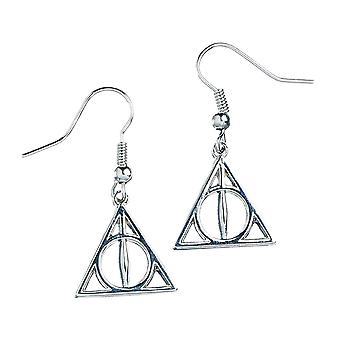 Harry Potter Sterling Silver Deathly Hallows Drop Ohrringe