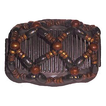 Chignon Comb 703 Brown from TIKITIBOO by Pashmina & Silk