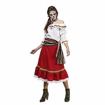 Señora de Español mexicano día de traje del traje de las señoras de gitano muerto