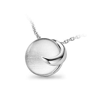 PENDANT WITH CHAIN925 SILVER GLASS BALL WITH SILVER SHEET