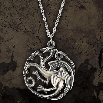 Sterling Silver Game of Thrones Targaryen Pendant