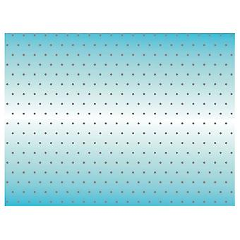 Picnic Table Cloth Cover Outdoor Party Decorations - Blue With Silver Spots