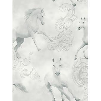 Camarillo häst tapet grå Arthouse 667300