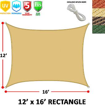 Modern Home Sail Shade Rectangle (16' x 12')