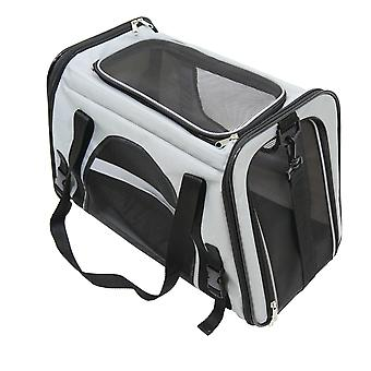 Roll over image to zoom in Charles Bentley Pet Dog Cat Travel Car Bag Carrier with Shoulder Strap - Transportation - Lightweight in Grey
