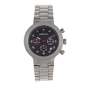 Morphic M78-serien chronograph armbåndsur-sølv/svart