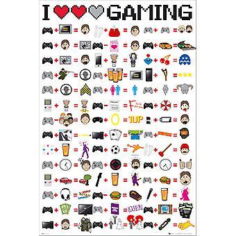 J'aime le jeu Maxi Poster 61x91.5cm