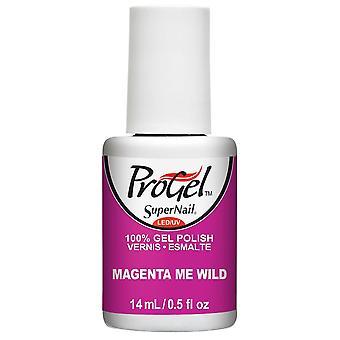 SuperNail ProGel Tropical Pop Gel Nail Polish Collection - Magenta Me Wild 14ml