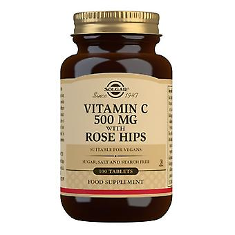 Solgar Vitamin C 500 mg with Rose Hips Vegicaps 100 (2380)