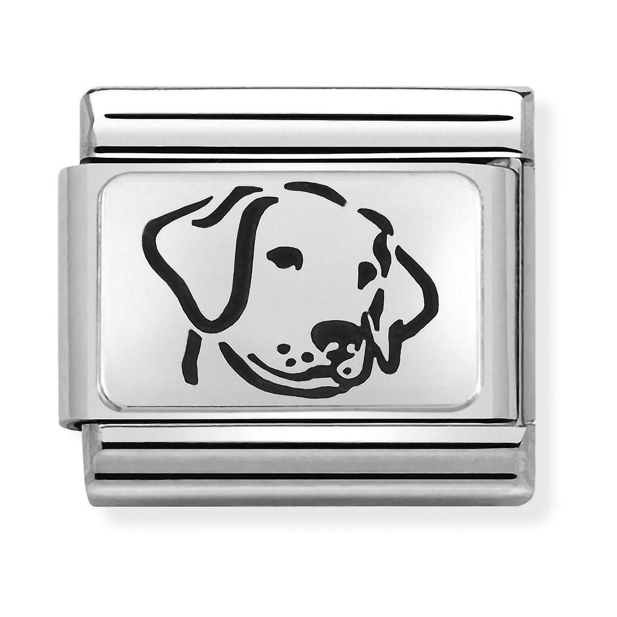 Nomination Classic Dog Steel, Enamel and 925 Silver Link Charm 330109/06